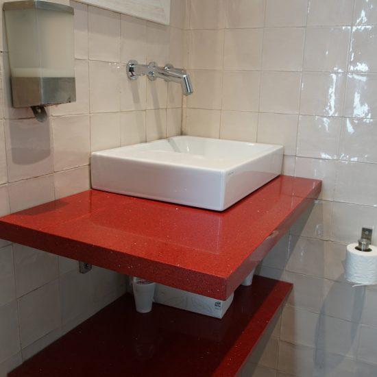 Lavabos Negro/ Rojo